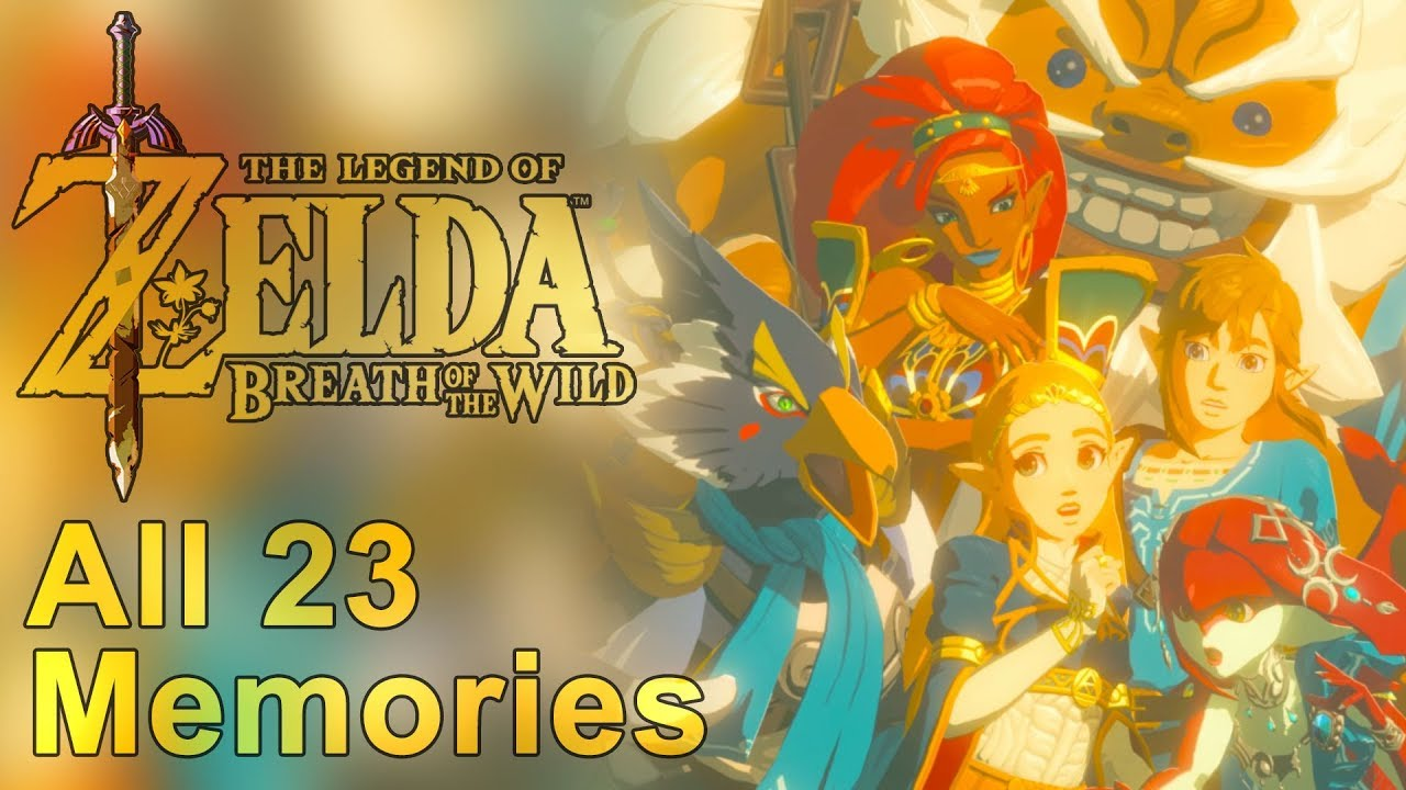 All Memories In Order Dlc Included Zelda Breath Of The Wild