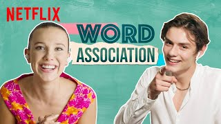 Millie Bobby Brown & Louis Partridge Play Words Associations | Enola Holmes | Netflix India