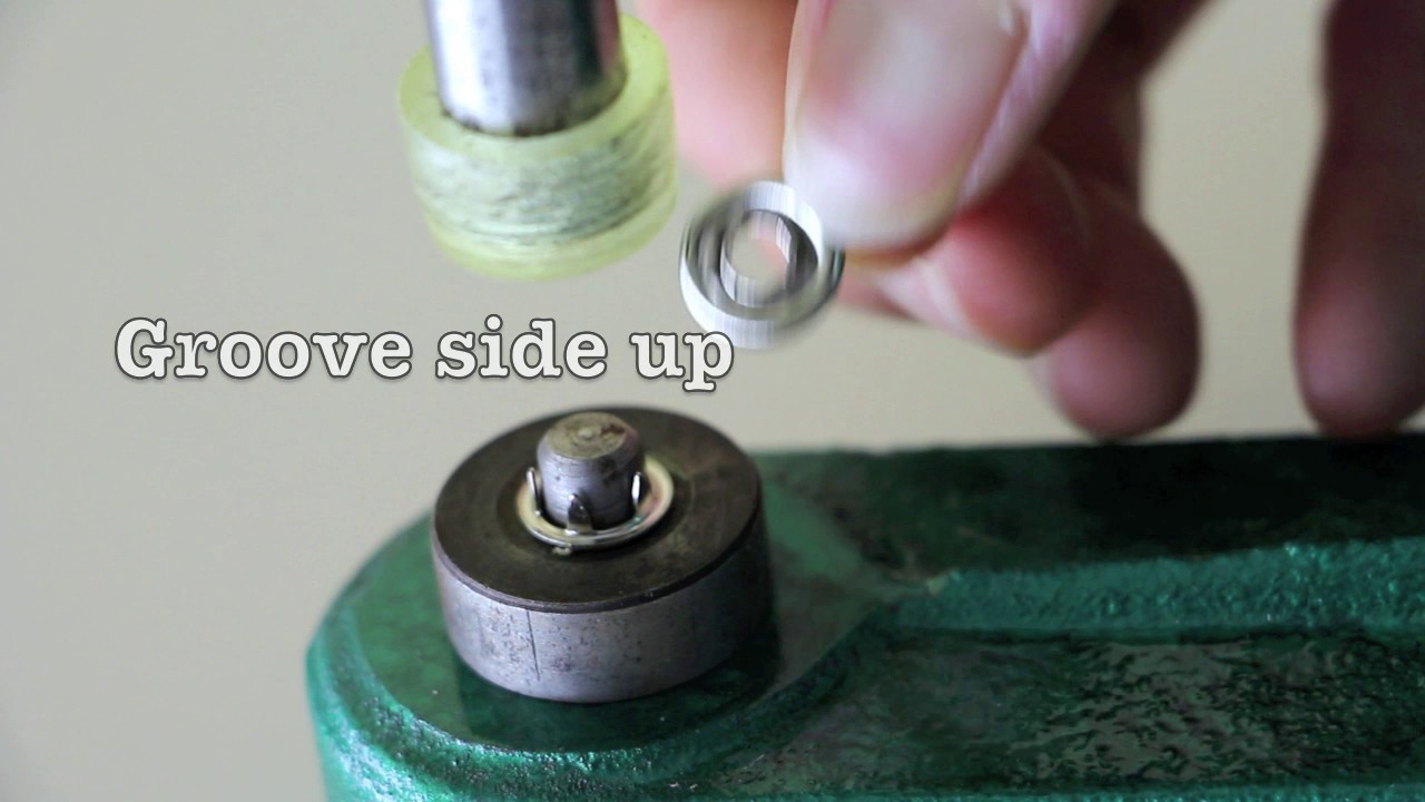 How to Install Open-Ring Metal Snaps with KAM Table Hand Press  (Instructional Tutorial)