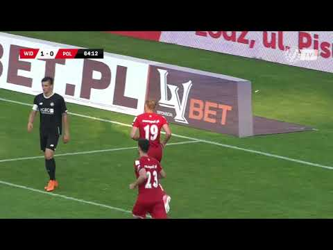 Widzew Łódź - Polonia Warszawa 2:0 - Bramka Marka Zuziaka