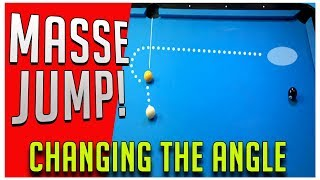 Pool Lessons - The Masse Jump - Change the path of the Cue Ball!