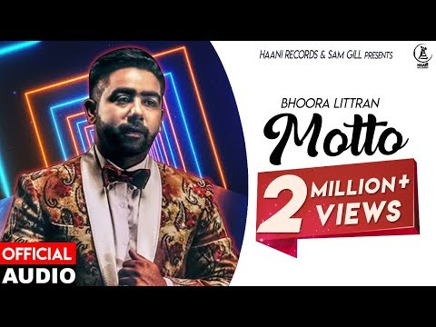 Latest Punjabi Song ● 2017 ● Motto ● Bhoora Littran ● Official Audio ● HAAਣੀ Records