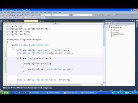 Singleton design pattern in c# .net, static class vs singleton class,Thread safe singleton