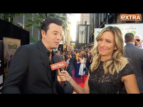 'Extra' with Seth MacFarlane and Mark Wahlberg at 'Ted 2' Premiere