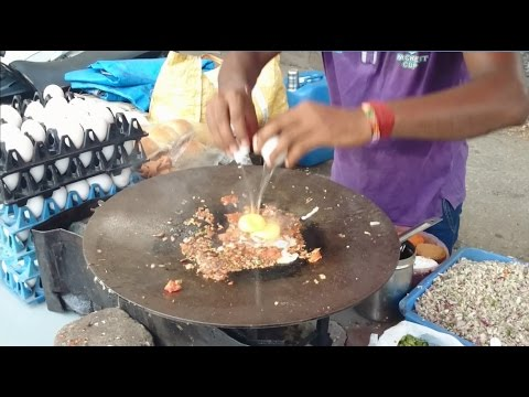 Amazing Mumbai Street Food Egg Bhurji Pav | Scrambled Eggs | Indian Street Food | 2015 [HD 1080p]
