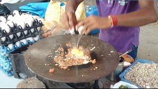 Amazing Mumbai Street Food Egg Bhurji Pav | Scrambled Eggs | Indian Street Food | 2015 [HD 1080p]