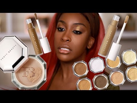 Has FENTY Done It Again?! Pro Filtr Concealer & Setting Powder Review | Jackie Aina