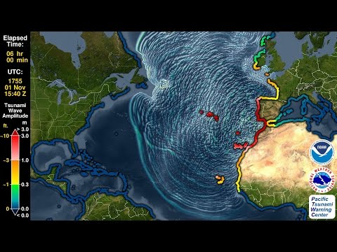 Tsunami Forecast Model Animation: Lisbon 1755