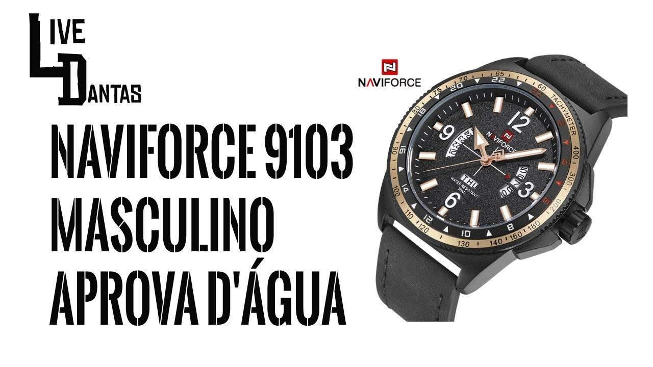 23f9098b9cd Unboxing Relógio Naviforce 9103M - Gear Best