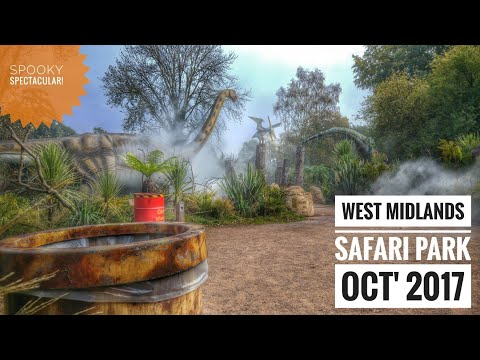 West Midlands Safari Park Vlog (Spooky Spectacular Oct' 2017 feat. Coastersaurus & HM Coasters)