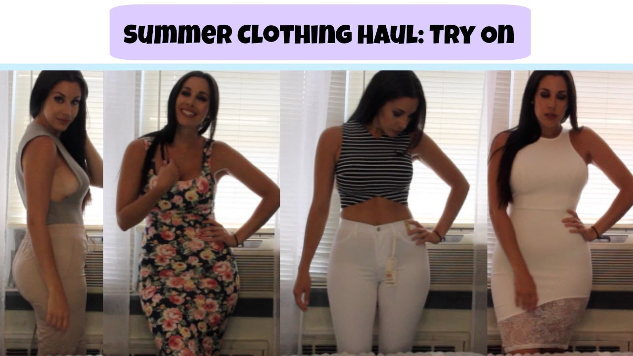 9d34a461a5 Summer Clothing Haul 2015 | Try On - YouTube