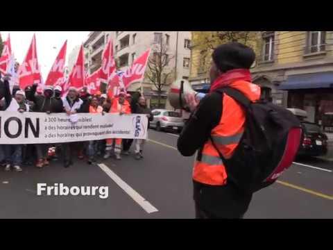 Journée de protestation dans la contruction en Suisse romande (30.10.2018)