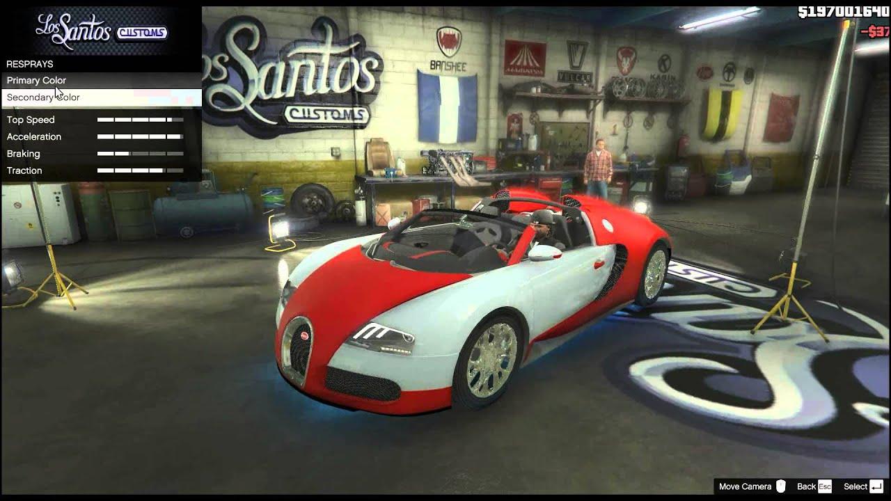Grand Theft Auto V - Bugatti Veyron Grand Sport Test ...