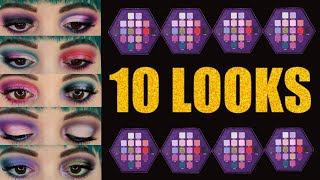 Jeffree Star Blood lust palette | 10 LOOKS and REVIEW
