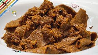 417 - Pappardelle al ragù di cinghiale...primo piatto eccezionale! (primo piatto tipico  di carne)