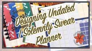 Undated Planner I solemnly Swear Vertical Block Template