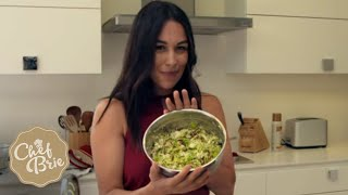 Chef Brie&#39s Brussels Sprout Salad with VEGAN BACON!
