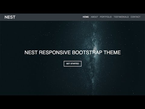 Bootstrap 4 Responsive Website Theme - Start To Finish - Bootstrap 4, HTML5, CSS3