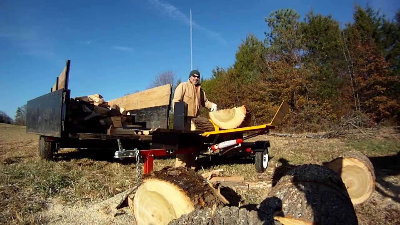 Wood Splitter With Lift : Wood splitter with lift youtube