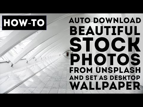 How to auto download royalty free stock photos 📷 from Unsplash and set as desktop wallpaper free?