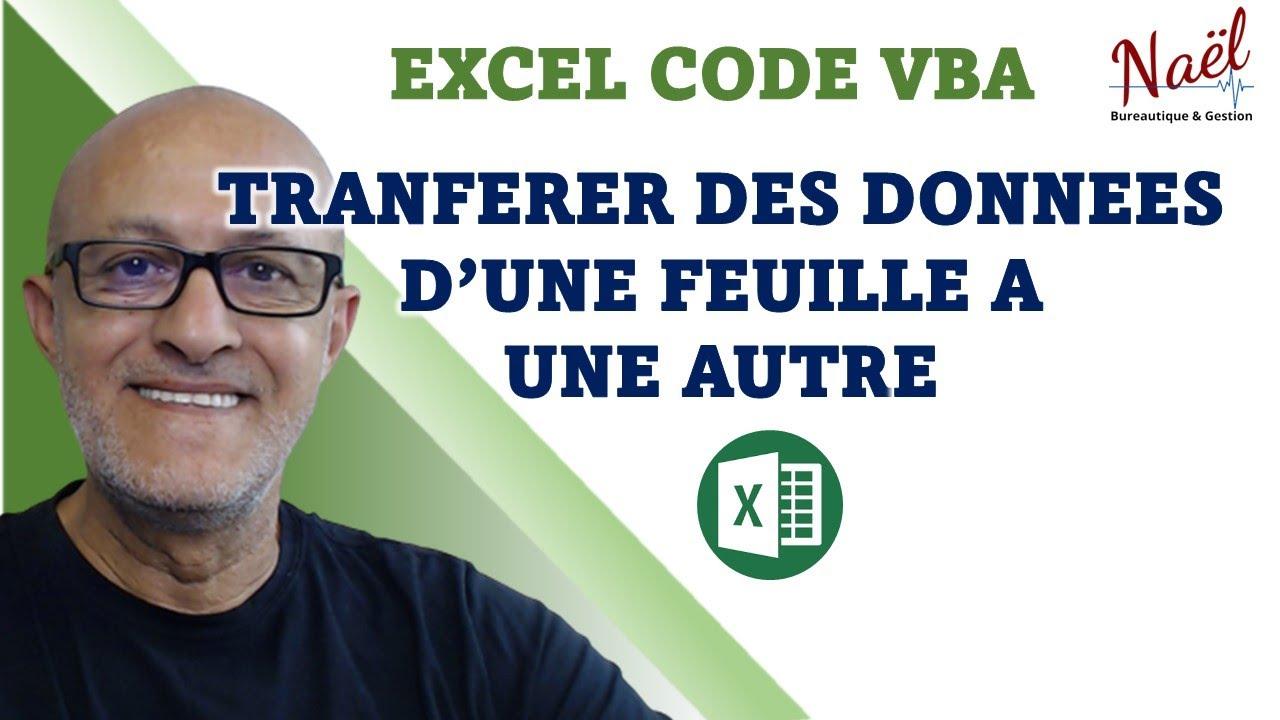 excel codes vba transferts de donn es d 39 une feuille automatiquement youtube. Black Bedroom Furniture Sets. Home Design Ideas