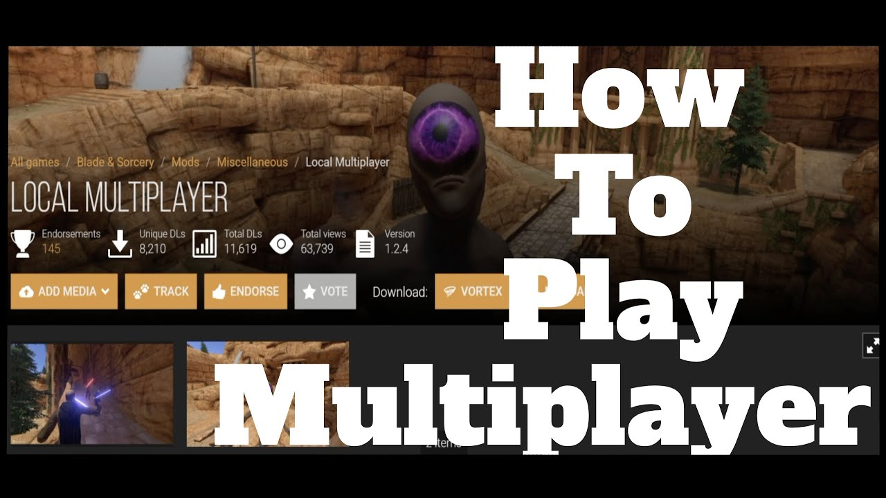 How to SETUP and PLAY multiplayer in Blade and Sorcery using Parsec and Local Multiplayer Mod