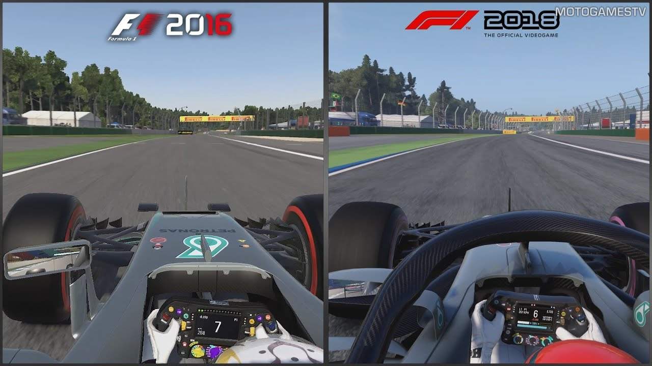 f1 2016 vs f1 2018 hockenheimring comparison youtube. Black Bedroom Furniture Sets. Home Design Ideas