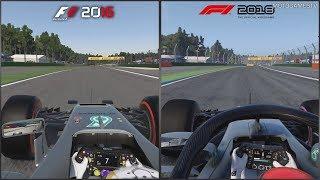 F1 2016 vs F1 2018 - Hockenheimring Comparison