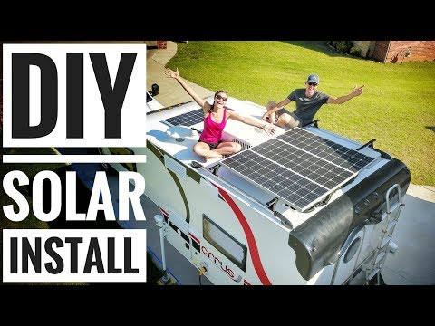 Camper Solar Setup Tutorial - How to Solar Power your RV, Ca