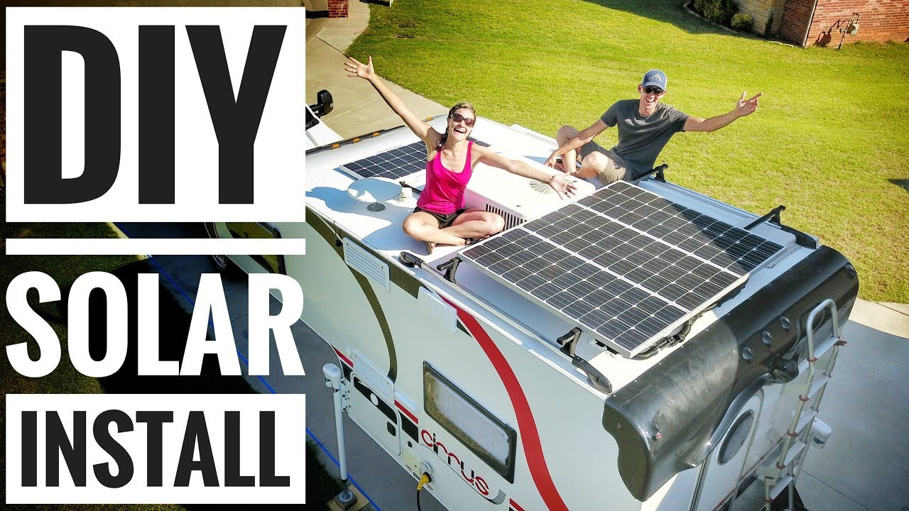 hight resolution of camper solar setup tutorial how to solar power your rv camper van truck camper