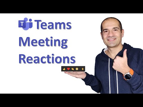 Microsoft Teams | How to send reactions during meetings 👍♥👏😁