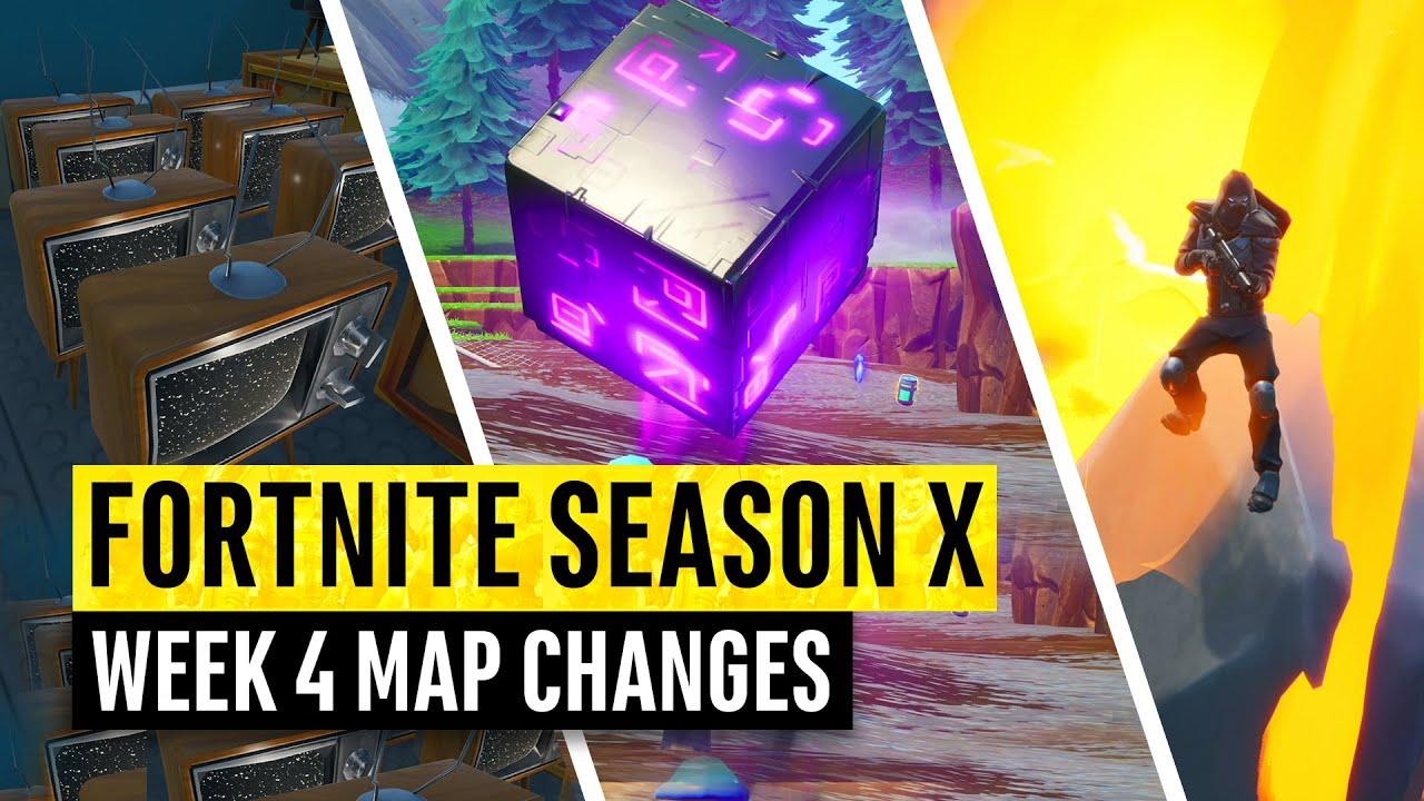 Fortnite All Season X Map Updates And Hidden Secrets Week 4