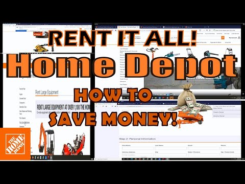How To Rent A Tool From Home Depot