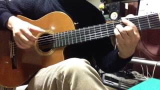 ボサノバのソロギターの例 A.C.Jobim「Samba de Uma Nota So」