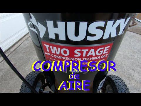 Desempaquetando HUSKY Compresor de aire // HUSKY 30 Gal. 175 PSI 2 Stage Air Compressor.