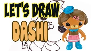 Drawing Dashi from The Octonauts! (Basic shapes and lines)