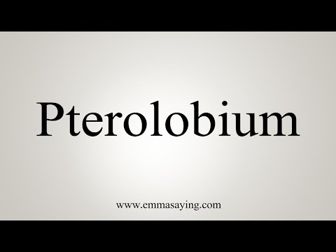 How To Pronounce Pterolobium