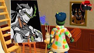 오버워치 겐지를 팔자 돈이 15000원을 넘었다!! 화가가 되어 그림을 팔아버리자! │배고픈 화가! - Passpartout - #6
