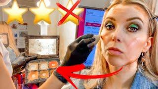 СТРЕМНАЯ КОСМЕТИКА и МИЛАЯ ВИЗАЖИСТ макияж за 2000 руб Треш обзор салона красоты в Москве влог