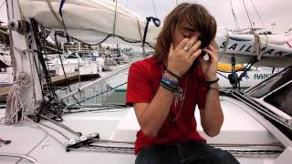 Teen sailor nears finish of global sea odyssey