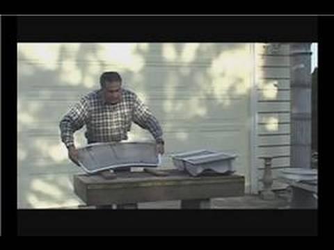 Make A Concrete Garden Bench : Unmolding A Concrete Garden Bench