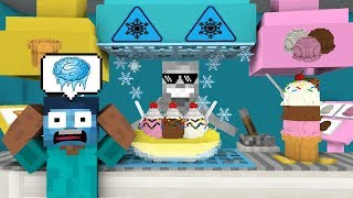 Monster School WORK AT ICE CREAM PLACE Minecraft Animation