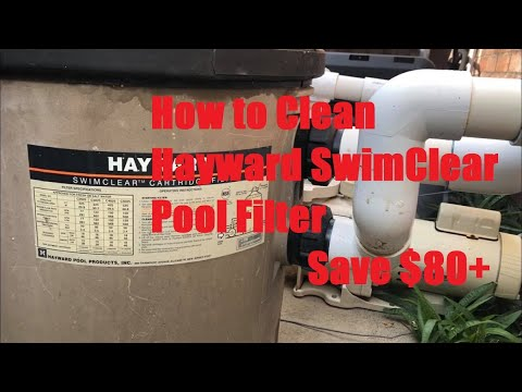 How to Clean Hayward SwimClear Cartridge Pool Filter (Save $80+)
