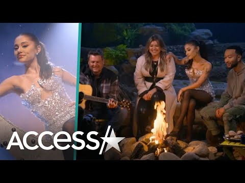 Ariana Grande Shares BTS Video w/Blake Shelton, John Legend & Kelly Clarkson