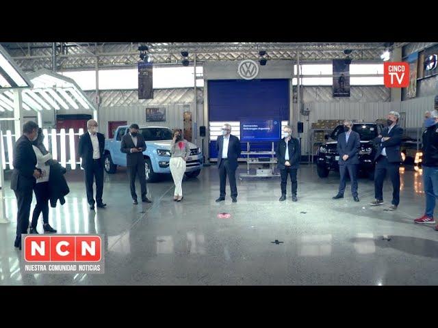 CINCO TV - Zamora junto a Schale recorrieron la fábrica de Volkswagen ubicada en General Pacheco