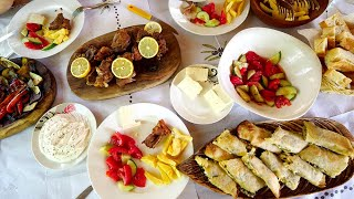 Albanian ALPS FOOD!! Exploring ICE COLD Waterfall & Mountain Attractions   Theth, Albania