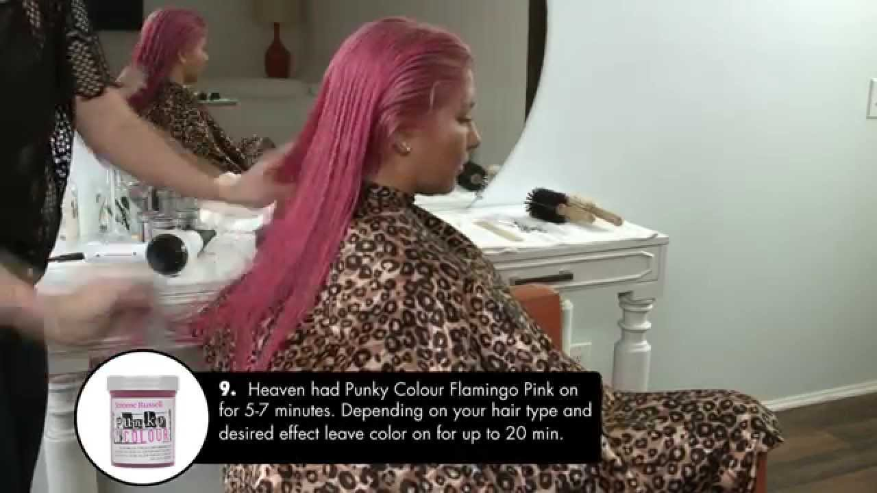 Jerome Russell Punky Colour Flamingo Pink Youtube
