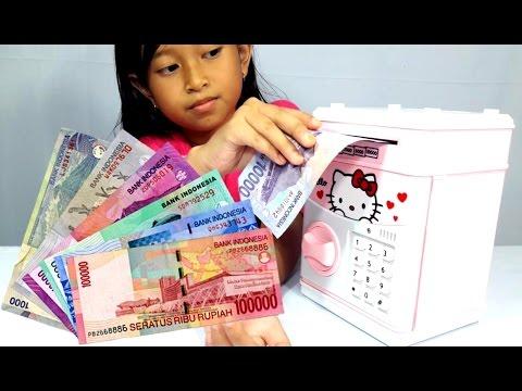 Mainan TABUNGAN Pakai Uang Beneran 💖 CELENGAN Anak 💖 Mainan HELLO KITTY 💖 Let's Play 💖 Jessica 💖