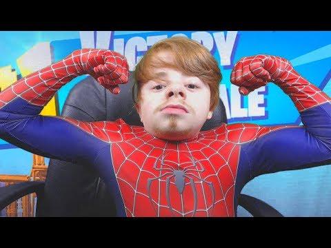 Spider-Man Plays Fortnite!