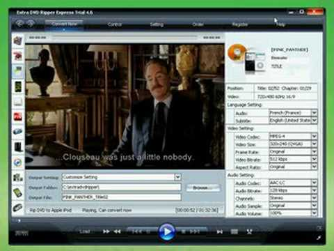 Extra DVD Ripper Express can rip CSS protected DVD movies to AVI, MPEG, iPod(MP4), iPhone, Apple TV, FLV(YouTube), Sony PSP, Sony PS3, WMV, Microsoft Zune Player, Pocket PC and Mobile 3GP -  [www.DVDCopyRip.com]